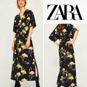 ZARA Tropical Floral Print Crop Jumpsuit🔥